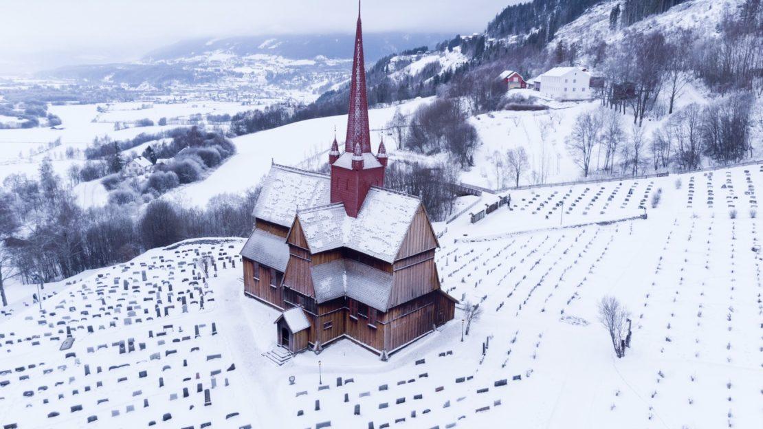 Eglise en bois en Norvège