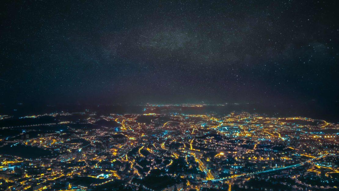 Nuit étoilé depuis le Pilat