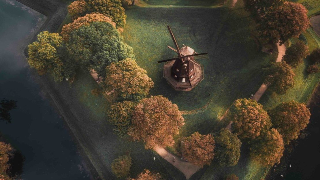 Le moulin de la citadelle de Copenhague au Danemark