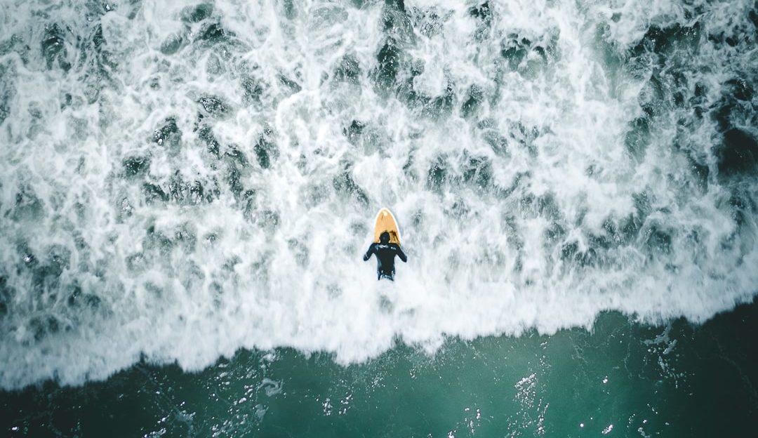 Surfer Huntington Beach California DJI Mavic 2 Pro